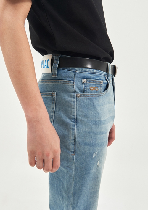 MENS BUCKLE BELT (PWTZ5ATY88MOBK)