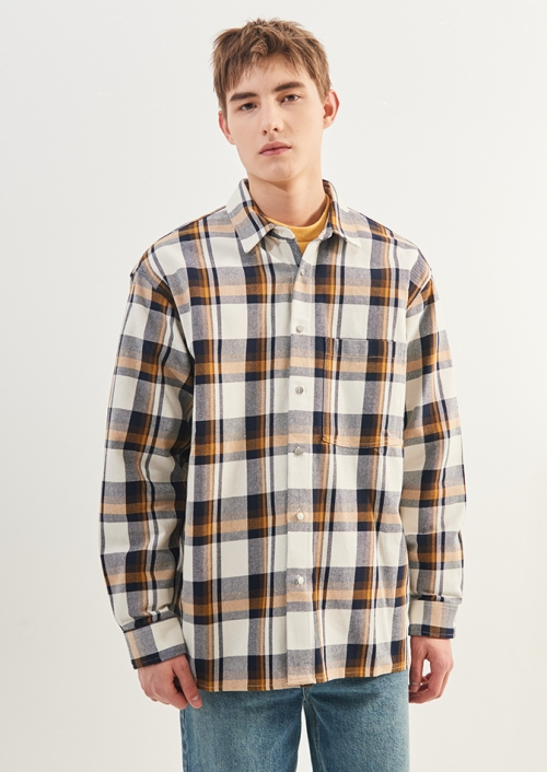 MENS MULTI CHECK SHIRTS_IV (PWTZ1LSL17MIVY)